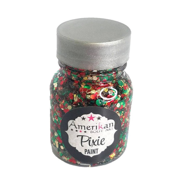Amerikan Body Art Pixie Paint Glitter Gel - Here Comes Santa Clause (1 oz)