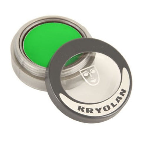 Kryolan Pressed Powder Compact - UV Dayglow Green (2.5 gm)