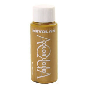 Kryolan Aquacolor Liquid - Metallic Gold (1 oz)