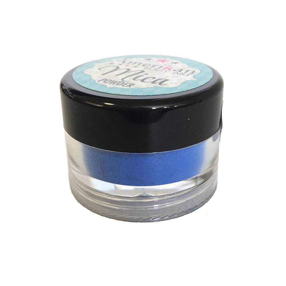 Amerikan Body Art Mica Powder - Matte Blue (10 ml)
