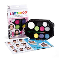 Snazaroo Face Painting Palette Kit - Girls (8 Colors)