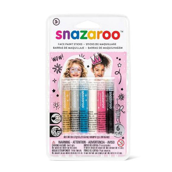Snazaroo Girl's Face Painting Crayons (6 Colors)