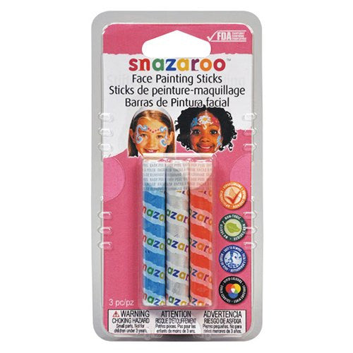 Snazaroo Girls Face Painting Crayons Set (3/pack)
