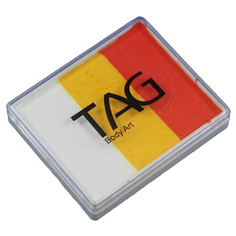 TAG Face Paint Base Blender Split Cakes - Tiger (1.76 oz/50 gm)