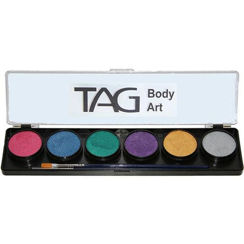 TAG Pearl Face Paint Palettes (6 Colors)