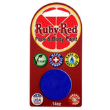 Ruby Red Blue Face Paints - Blue 450