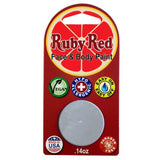 Ruby Red Silver Face Paints - Metallic Silver M810