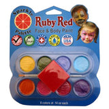 Ruby Red Pearl Face Paint Palette (8 Colors)