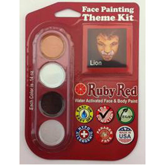 Ruby Red Face Paints - Theme Pack Lion