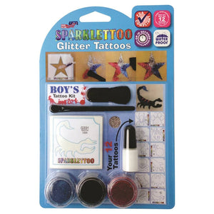 Ruby Red Glitter Tattoo Kit - Boy's