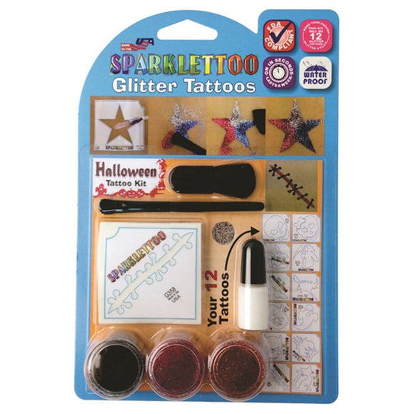 Ruby Red Glitter Tattoo Kit - Halloween