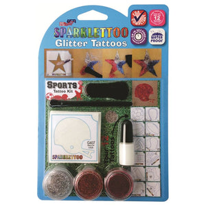 Ruby Red Glitter Tattoo Kit - Sport