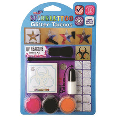 Ruby Red Glitter Tattoo Kit - UV