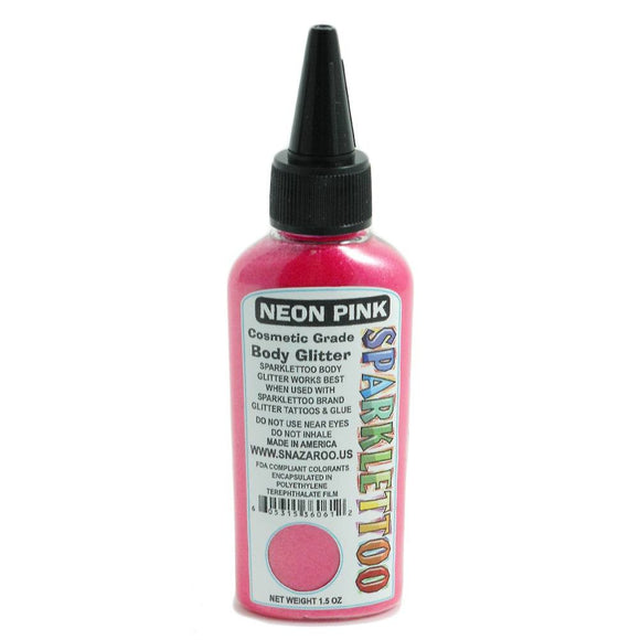 Ruby Red Sparklettoo Glitter - Neon Pink