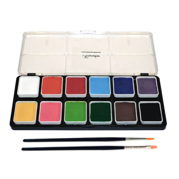Kryvaline Regular Face Paint Palettes (12/Colors - 6 gm)