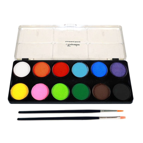 Kryvaline Regular Face Paint Palettes (12/Colors - 10 gm)