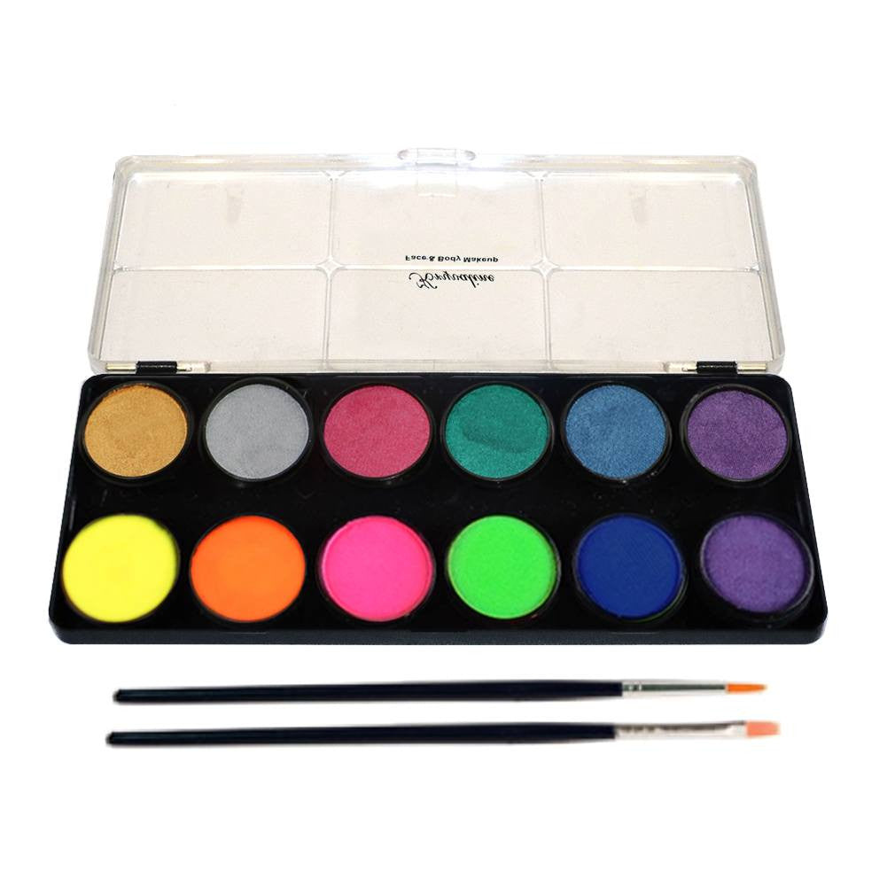 Kryvaline Metallic & Neon Palette (12/Colors - 10 gm)