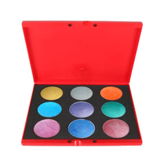 Kryvaline Metallic Face Paint Palettes (9/Colors - 30 gm)