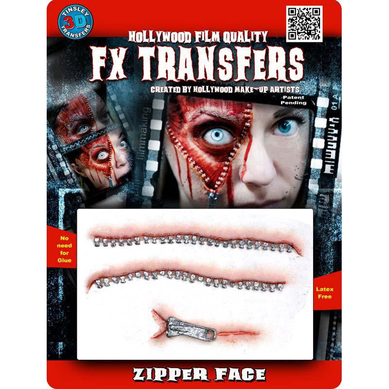 Tinsley Medium 3D FX Transfer - Zipper Face