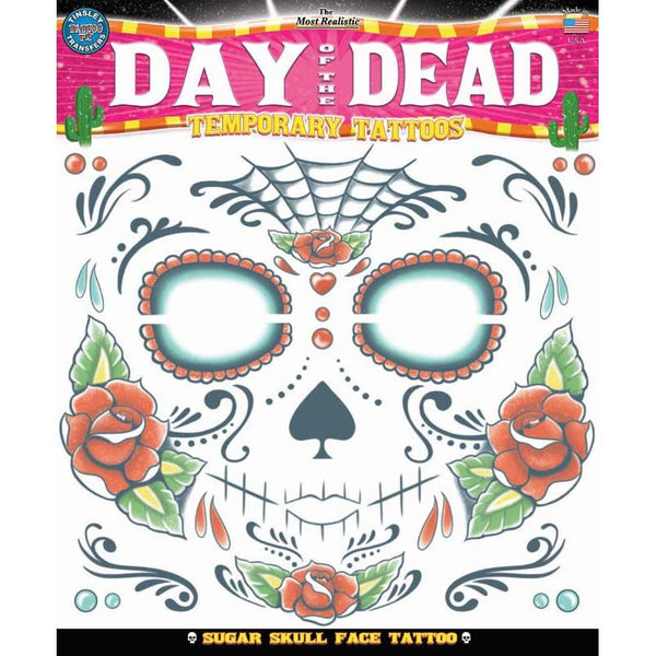 Tinsley Transfers Day Of The Dead Temporary Tattoo Fx El Juegador