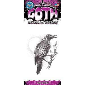 Tinsley Transfers Gothic Temporary Tattoo - The Raven