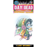 Tinsley Transfers Day Of The Dead Temporary Tattoo FX - Lady Gitanos