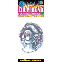 Tinsley Transfers Day Of The Dead Temporary Tattoo FX - Senora Muerte