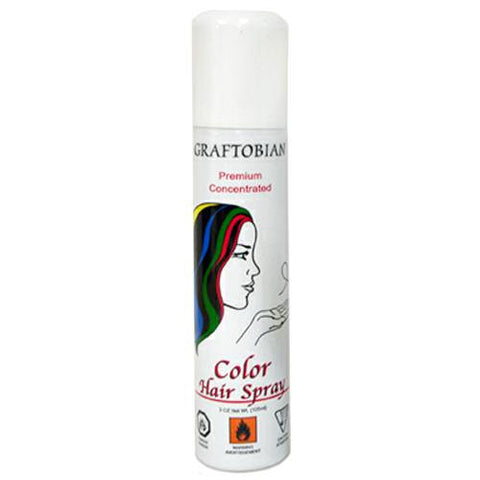Graftobian Color Hair Spray - White (5 oz)