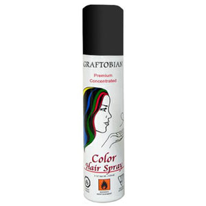 Graftobian Color Hair Spray - Black