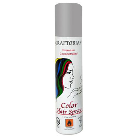 Graftobian Color Hair Spray - Grey (5 oz)