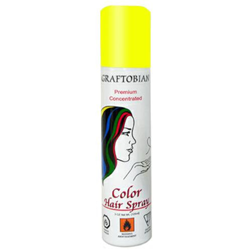 Graftobian Color Hair Spray - Fluorescent Yellow