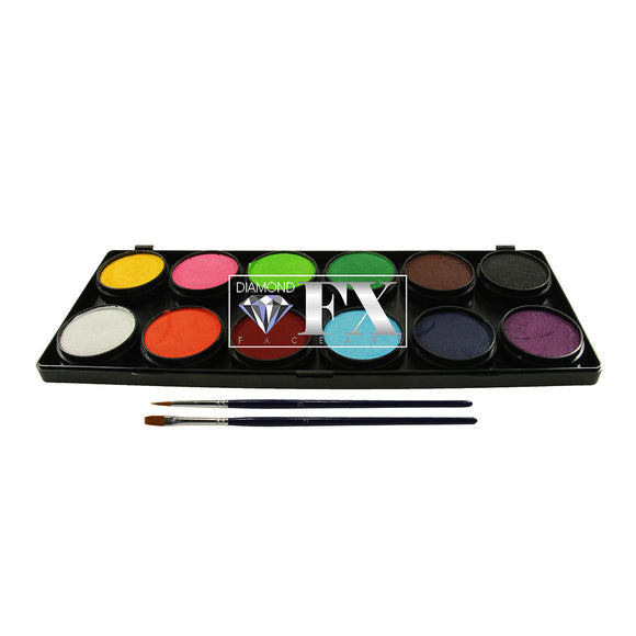Diamond FX Face Paint Palette (12/colors - 10 gm)