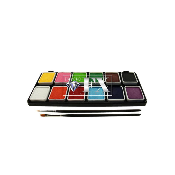 Diamond FX Face Paint Palette (12/colors - 6 gm)