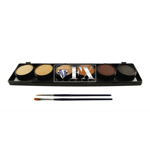 Diamond FX Skins Face Paint Palettes (6/colors - 10 gm)