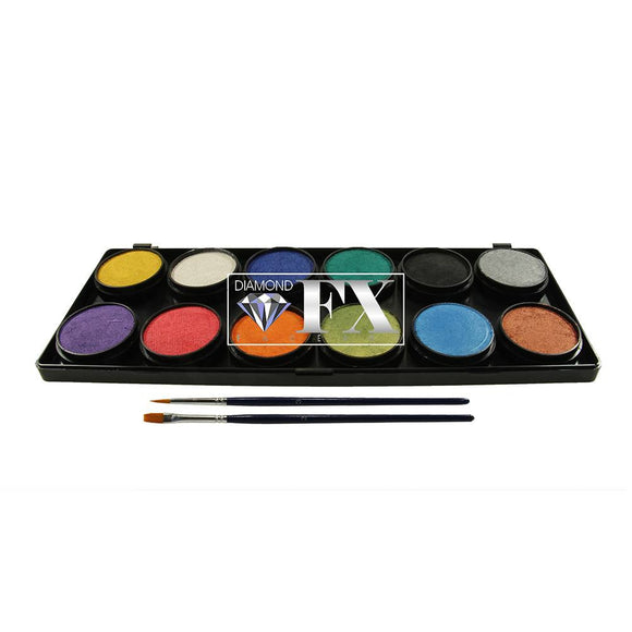 Diamond FX Metallic Palette (12/colors - 10 gm)