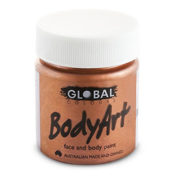 Global Body Art Liquid Face Paint - Metallic Copper (45 ml/1.5 oz)