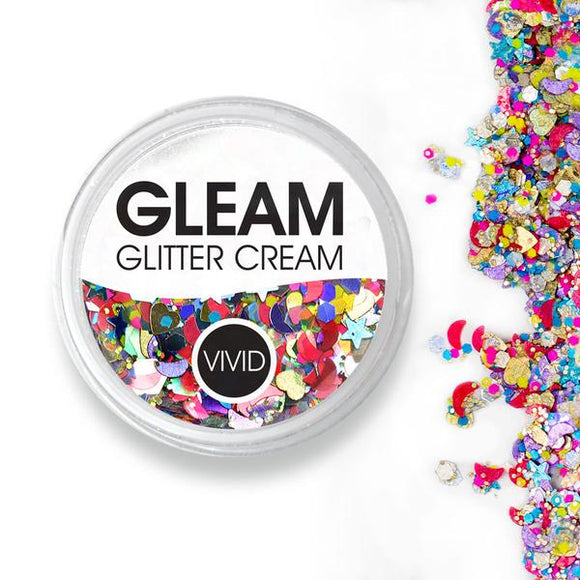 VIVID Gleam Chunky Glitter Cream - Festivity