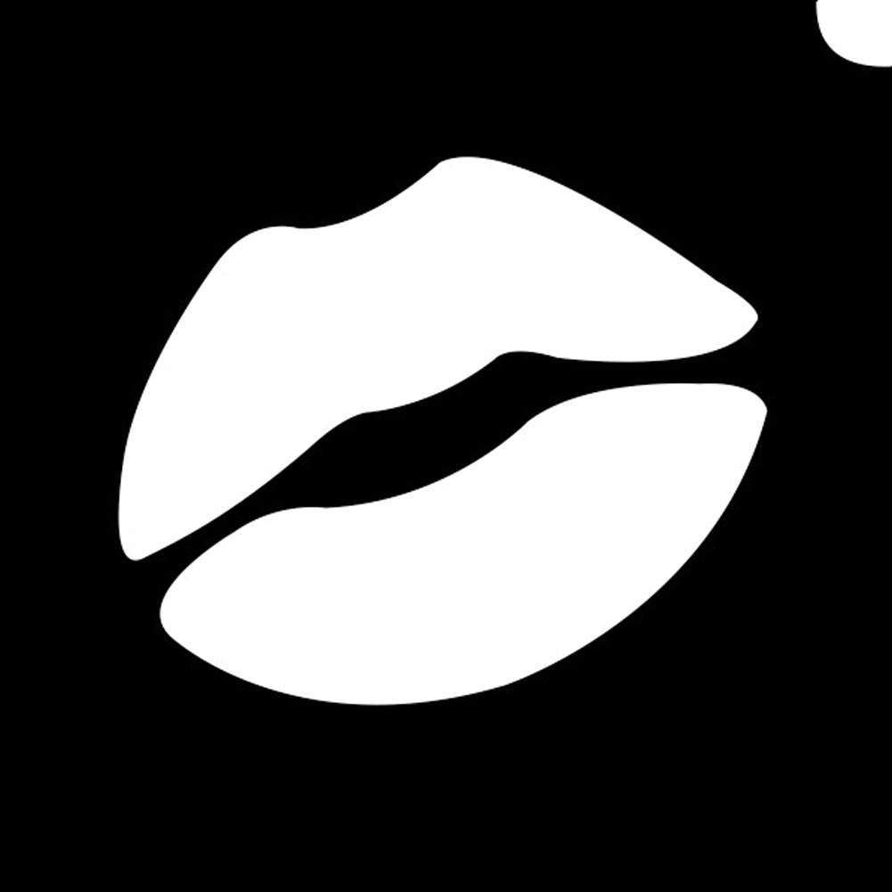 Glimmer Body Art Glitter Tattoo Stencils -Emoji Lip (5/pack)