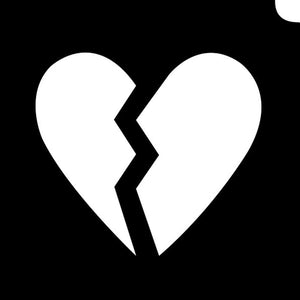Glimmer Body Art Glitter Tattoo Stencils -Emoji  Broken Hearted (5/pack)
