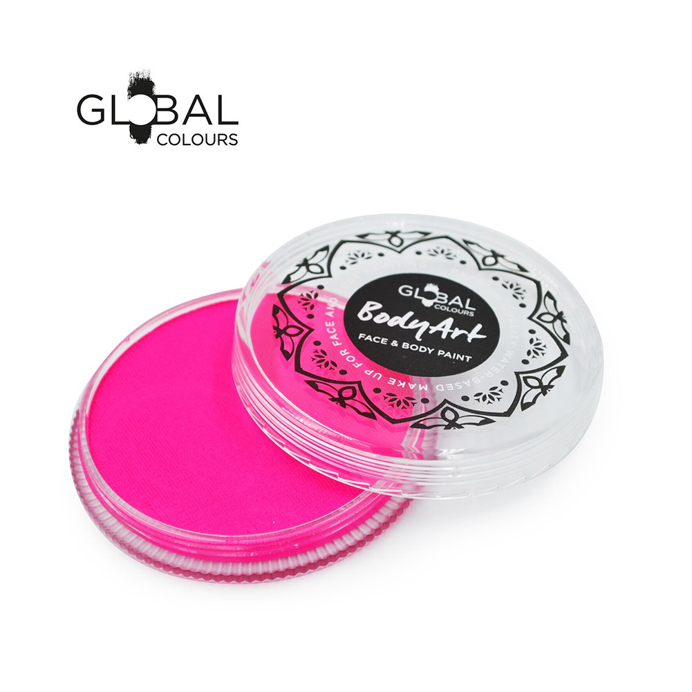 Global Body Art Face Paint -  Neon Magenta (32 gm)