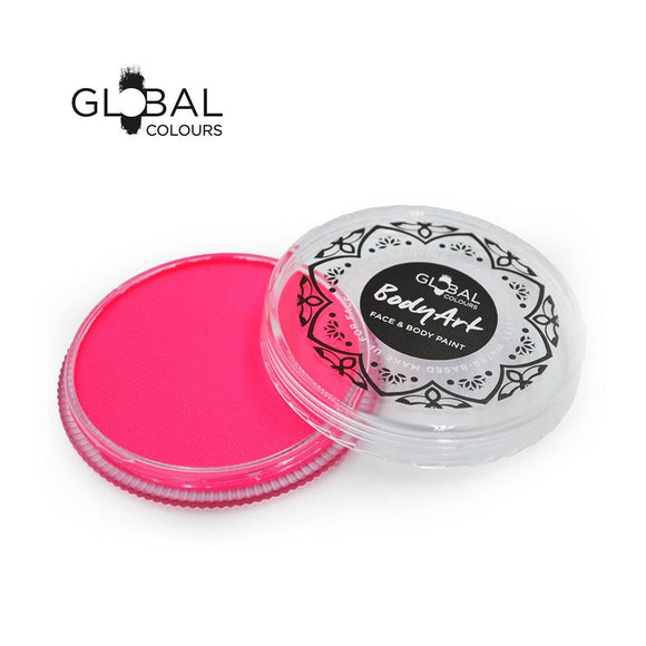 Global Body Art Face Paint -  Neon Pink (32 gm)