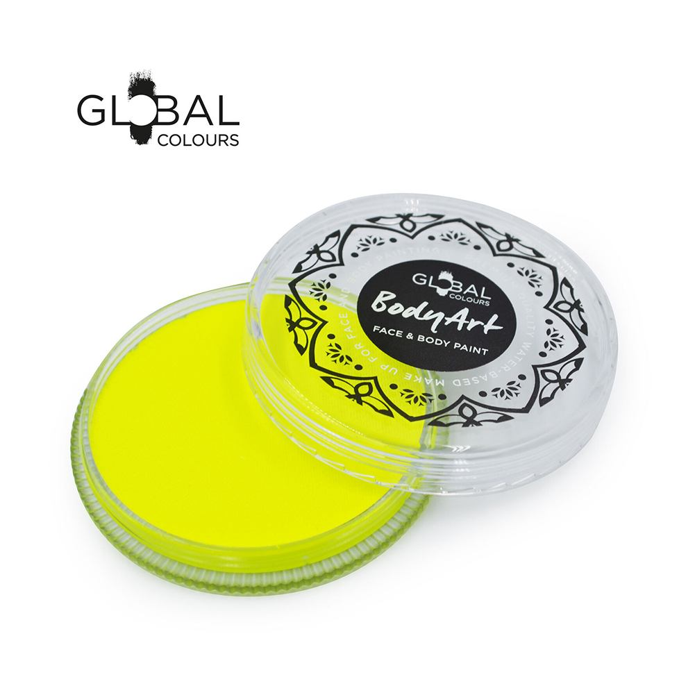 Global Body Art Face Paint -  Neon Yellow (32 gm)