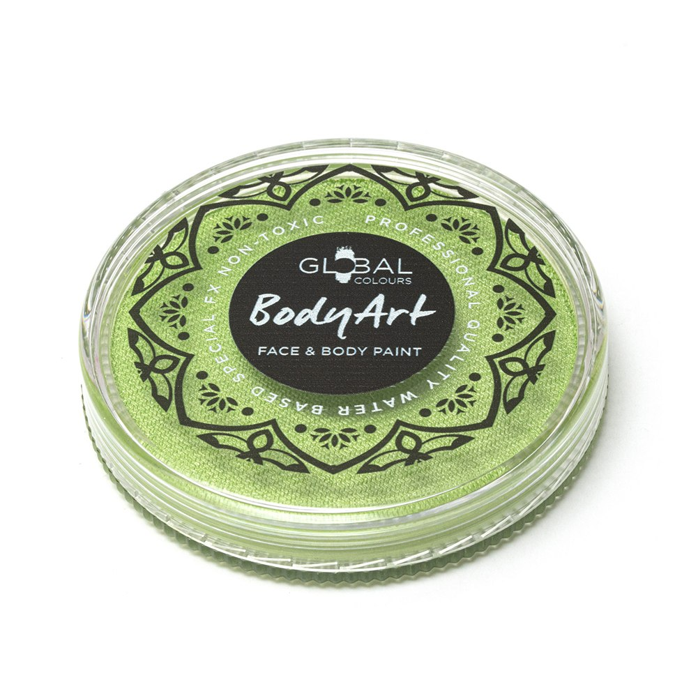 Global Body Art Face Paint -  Pearl Lime Green (32 gm)