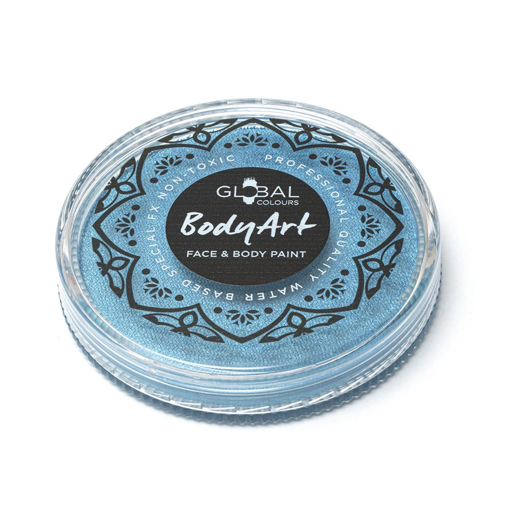 Global Body Art Face Paint -  Pearl Peacock Blue (32 gm)