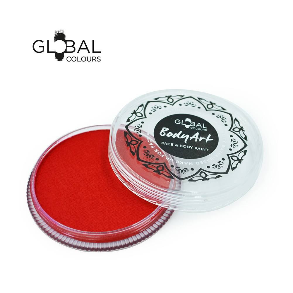 Global Body Art Face Paint - Standard Red (New Shade) (32 gm)