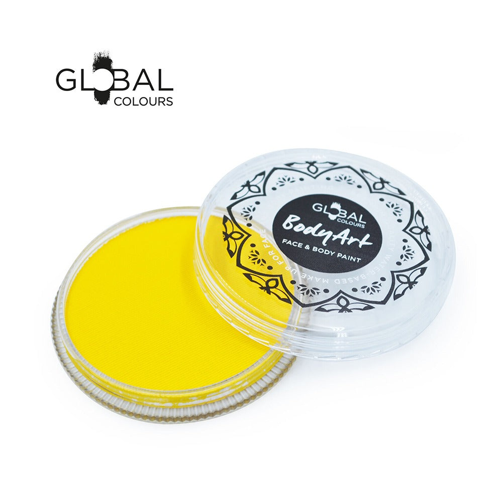 Global Body Art Face Paint - Standard Yellow (32 gm)