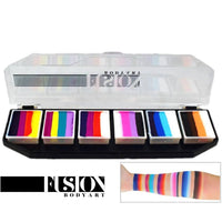 Fusion Body Art Spectrum Face Painting Palette - Rainbow Splash (6 Cakes/10 gm)