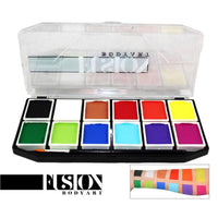 Fusion Body Art Sampler Face Painting Palette (12 Colors/7 gm)