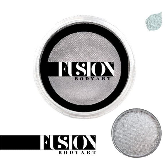Fusion Body Art Face Paint - Pearl Metallic Silver (32 gm)