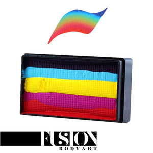 Fusion Body Art 1 Stroke FX Split Cake - Leanne's Rainbow (30 gm)